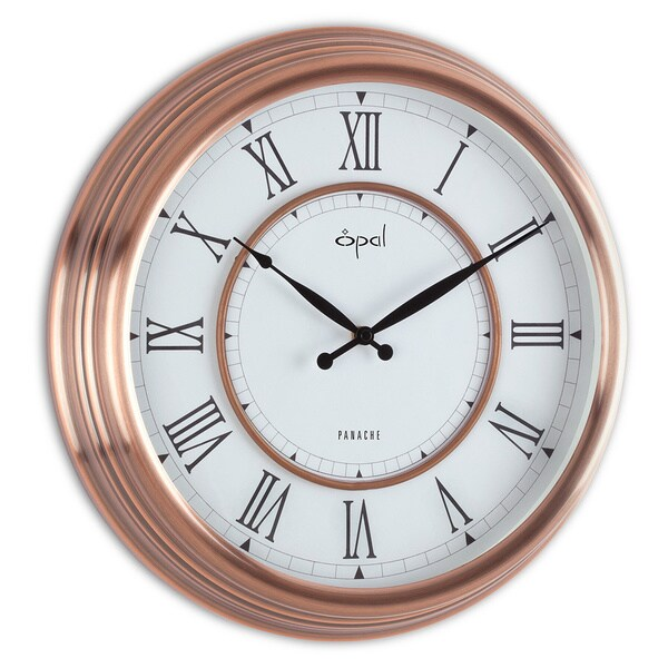 Shop Opal Antique Copper Plated Case Round Dial Clock With