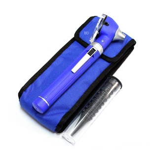Defender Blue Fiber Mini Pocket Otoscope Medical ENT Diagnostic Set