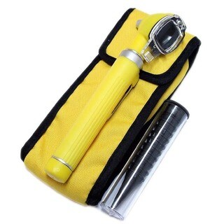 Defender Yellow Fiber Mini Pocket Otoscope Medical ENT Diagnostic Set