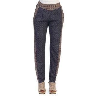 Hadari Women's Contemporary Geometric Ankle Trousers