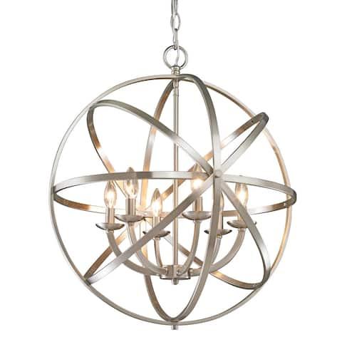 Avery Home Lighting Aranya 6-light Brushed Nickel Chandelier