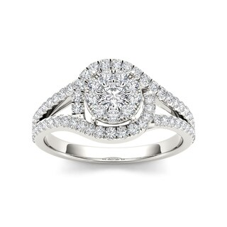 De Couer 10k Gold 2/5ct TDW Diamond Round Shape Engagement Ring (More options available)