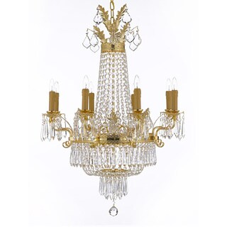 Gallery Empire Crystal 12-light Gold Chandelier