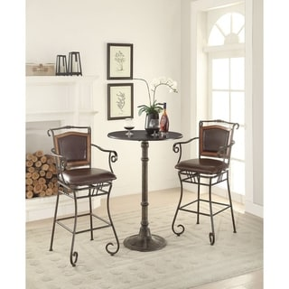 Coaster Company Wood Accented Faux Leather Bar Stool