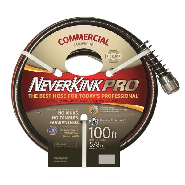 Neverkink PRO 100-foot Black/ Red Hose
