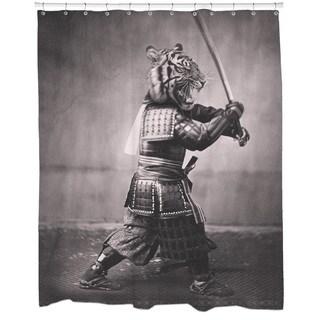 Samurai Tiger Shower Curtain