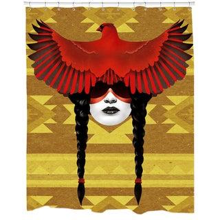 Cardinal Warrior Shower Curtain