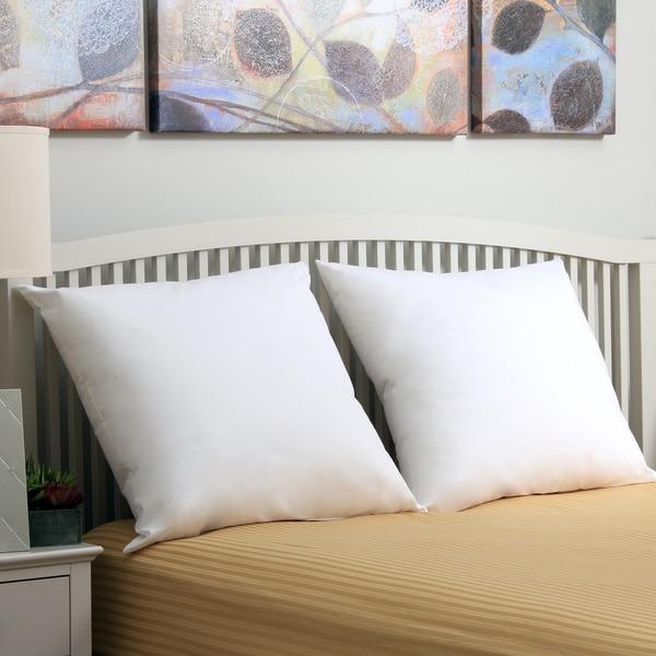 Sealy Hypoallergenic Down Alternative 26 x 26 Euro Square Pillow (Set of 2) - White