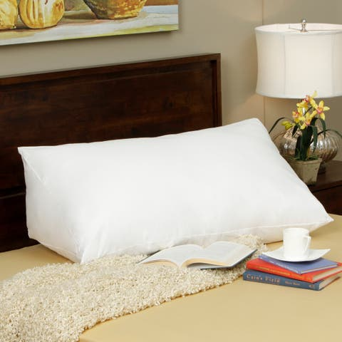 Down Alternative Reading Wedge Pillow - White