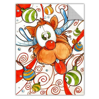 Luis Peres 'Rudolph Red Nose Deer' Removable Wall Art Graphic