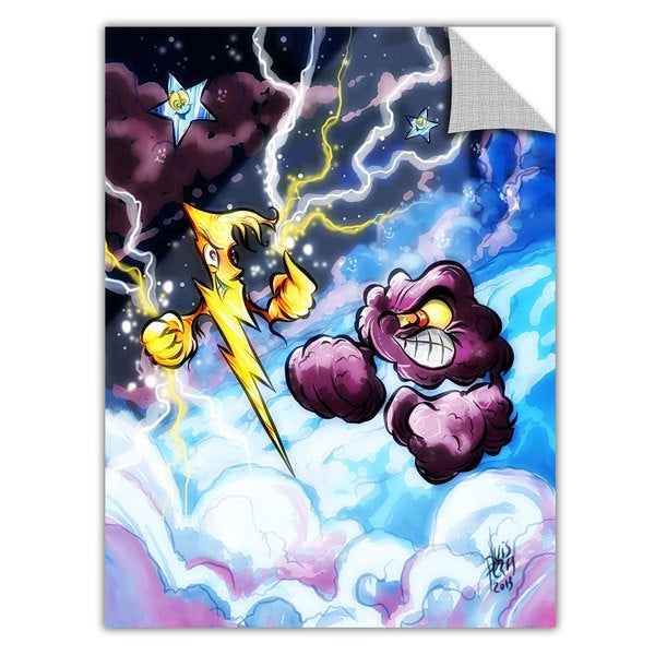 Luis Peres 'Lightning' Removable Wall Art Graphic - Multi