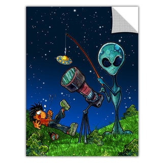 Luis Peres 'UFO Kid 3' Removable Wall Art Graphic