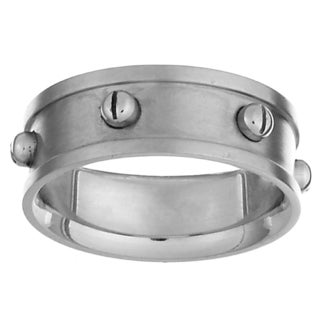 Stainless Steel Engraved Industrial Design Men's Band