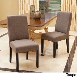 Corbin Dining Chair (Set of 2) by Christopher Knight Home (Option: Corbin Taupe Dining Chair (Set of 2))