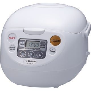 Zojirushi NS-WAC18WD Fuzzy Logic 10-Cup Rice Cooker and Warmer - Cool White