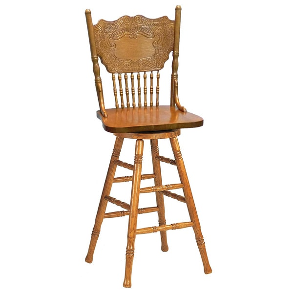 Larkin Windsor Country Style Swivel Bar Stool Free