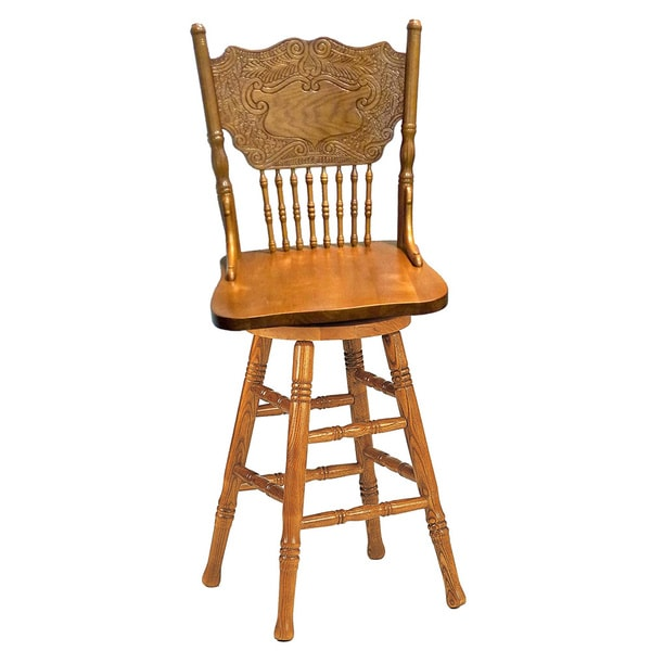 Larkin Windsor Country Style Swivel Counter Stool Free