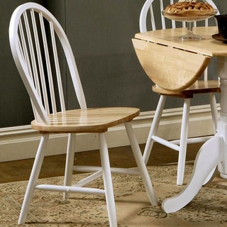 Hania 2-tone Windsor Spindle Back Dining Chairs (Set of 4)