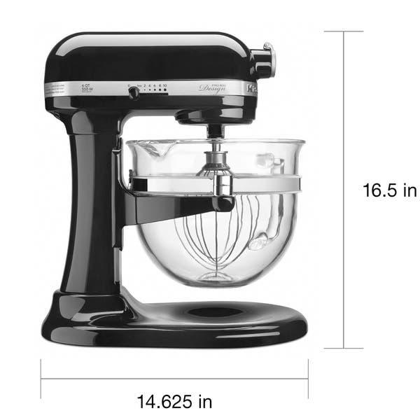 Shop KitchenAid KF26M2COB Onyx Black 6-Quart Bowl-Lift Pro ...