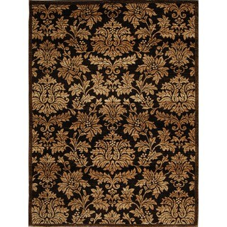 Home Dynamix Triumph Collection Traditional Brown-Gold Area Rug (5'2 x 7'6)