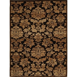 Home Dynamix Triumph Collection Traditional Brown-Gold Area Rug (7'9 x 10'2)