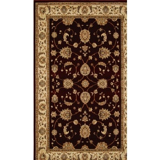 Home Dynamix Triumph Collection Traditional Burgundy Area Rug (7'10 x 10'10)