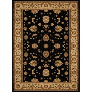 Home Dynamix Triumph Collection Black-Beige Machine Made Polypropylene Area Rug (7'10 x 10'10)