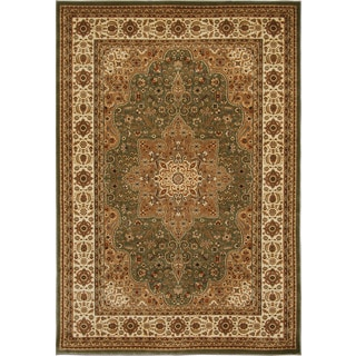 Home Dynamix Triumph Collection Green Machine Made Polypropylene Area Rug (7'10 x 10'10)