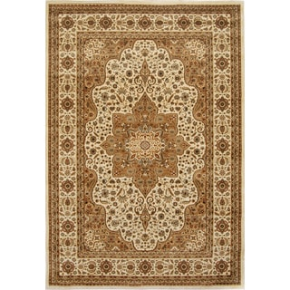 Home Dynamix  Triumph Collection  Beige Machine Made Polypropylene Area Rug (7'10 x 10'10)