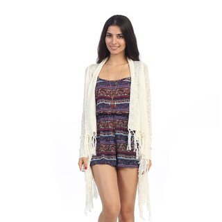 Hadari Junior's Knit Open Fringe Cardigan