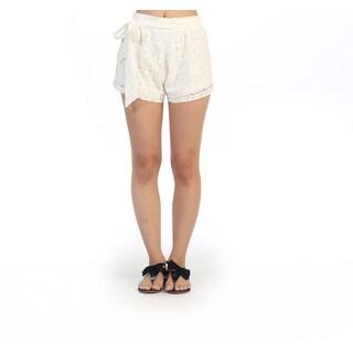 Hadari Junior's Casual White Lace Shorts
