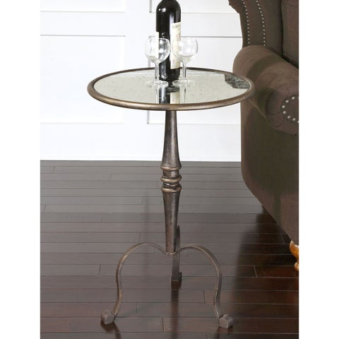 Uttermost Anais Coffee Bronze Accent Table