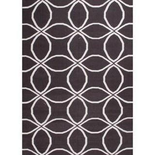 Hand-woven Moroccan Tile Wool Rug (8' x 10')