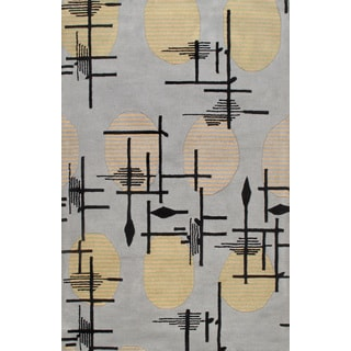 Hand-tufted Tuskan Trenton Grey Wool Rug (5' x 8')