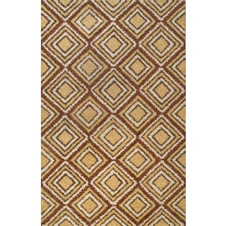 Handmade Moroccon Multi Diamond Wool Rug (5 x 8)
