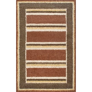 Handmade Brown Beige Wool Rug (5 x 8)