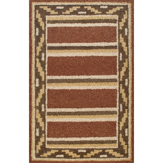 Handmade Stripes Far Multi Rug (5 x 8)