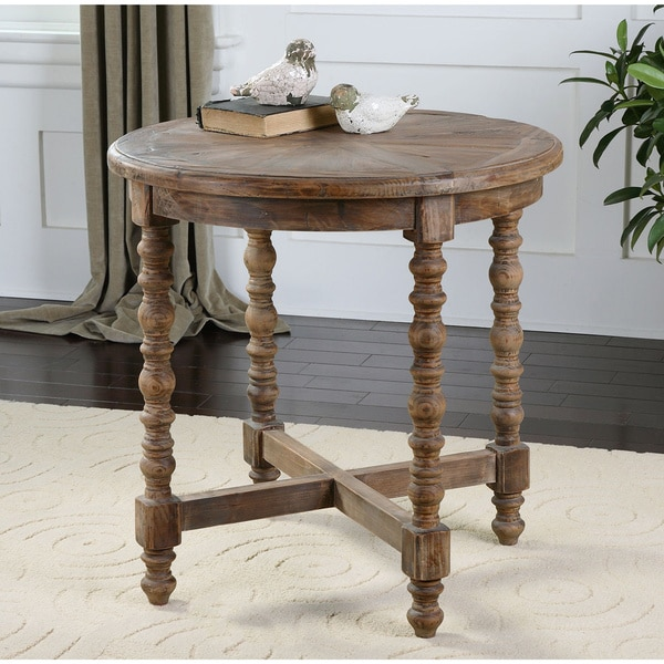 Attirant Uttermost Samuelle Reclaimed Wood End Table