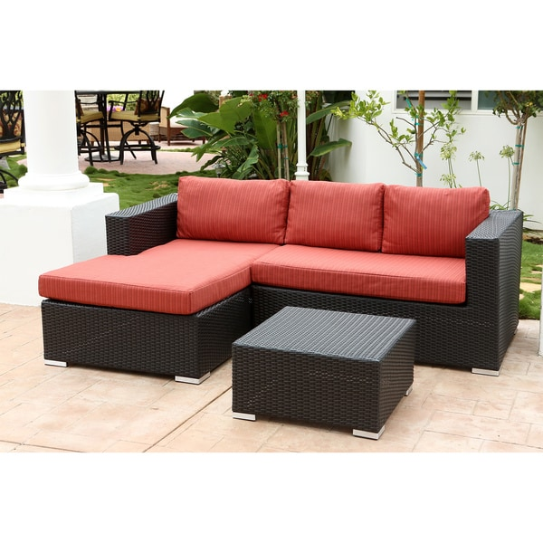 ... Abbyson Ventura Outdoor Wicker Sectional Set ...