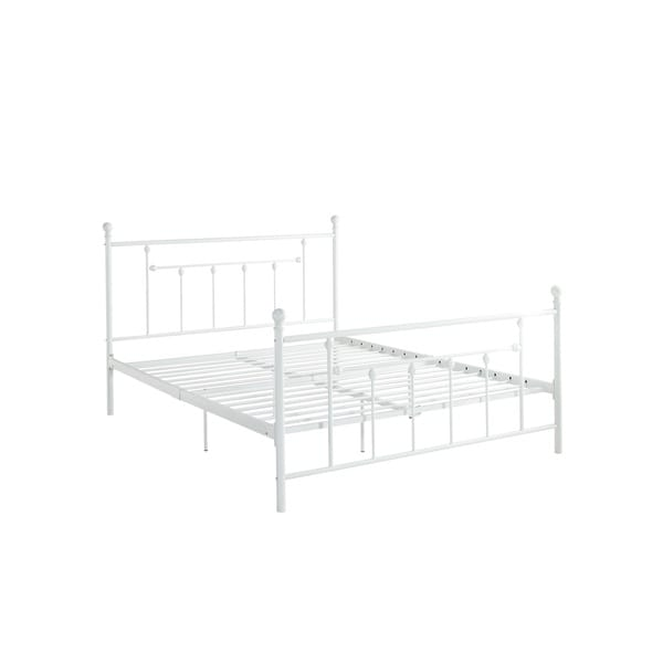 White Metal Bed Frames dhp manila white metal bed frame - free shipping today - overstock