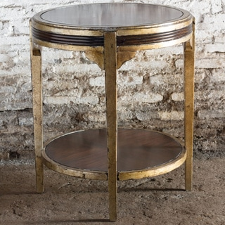 Uttermost Tasi Champagne Silver Leaf Accent Table