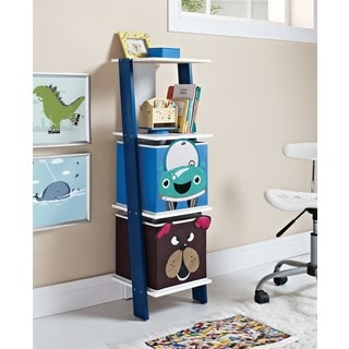 Altra Luci Ladder Bookcase with Car and Bear Bins by Cosco