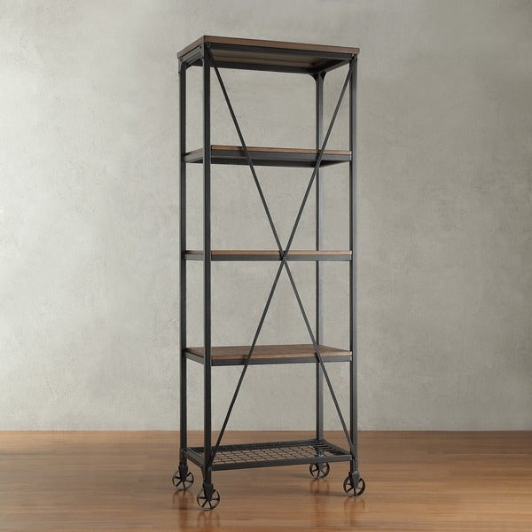 Nelson Industrial Modern Rustic 26-inch Bookcase by iNSPIRE Q Classic