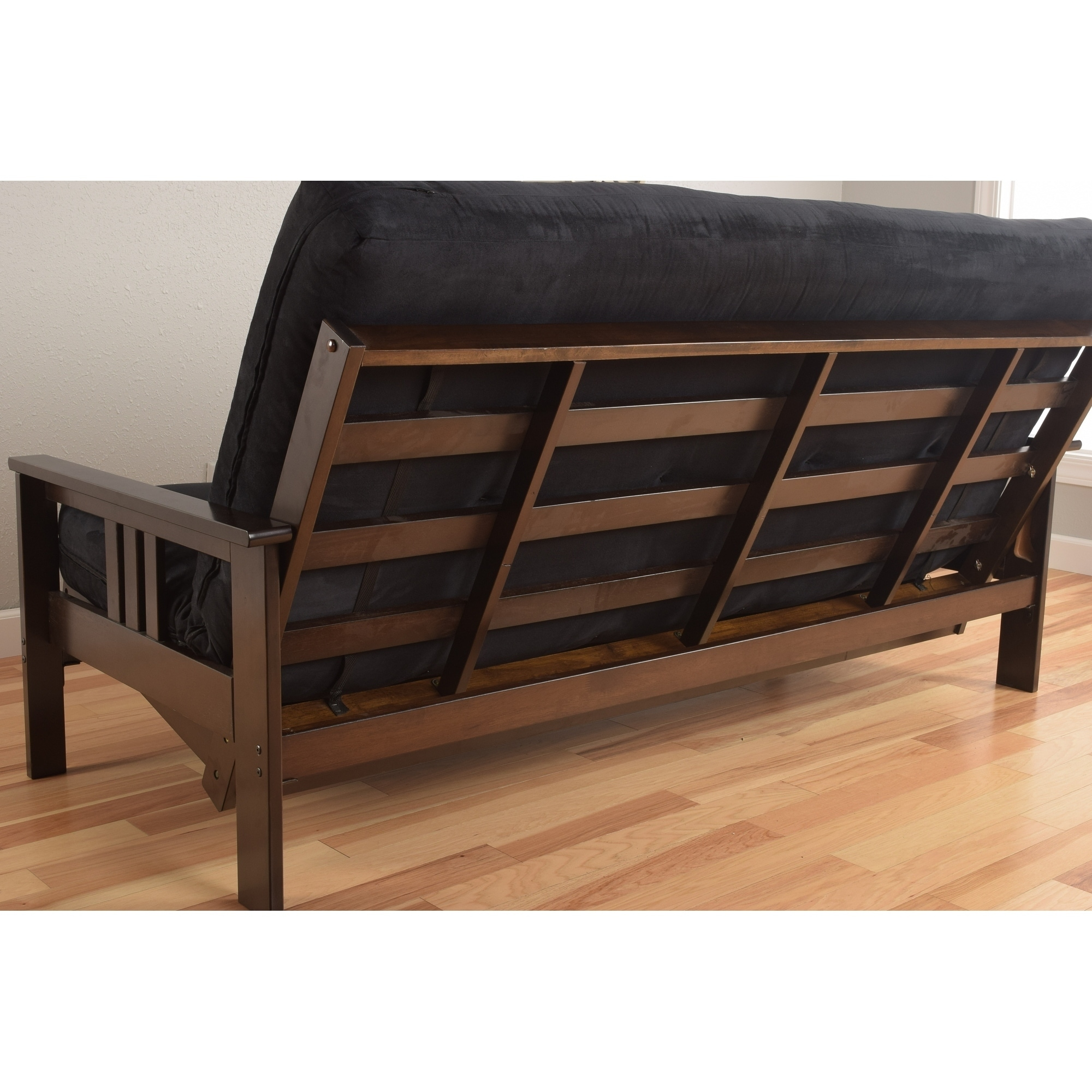 Porch Den Desoto Hardwood Suede Queen Size Futon Sofa Bed