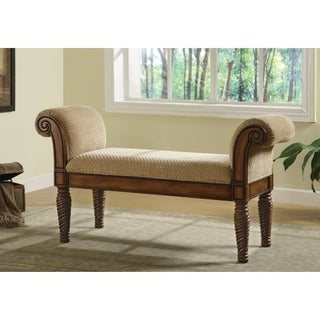 Coaster Company Neutral Chenille Traditional Wooden Bench