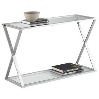 sunpan gotham stainless steel console table