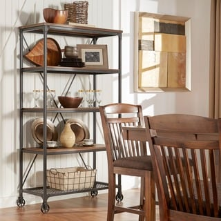 TRIBECCA HOME Nelson Industrial Modern Rustic 40-inch Bookcase