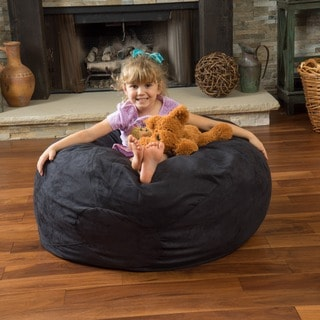 Christopher Knight Home Paige Faux Suede 3-foot Lounge Beanbag Chair