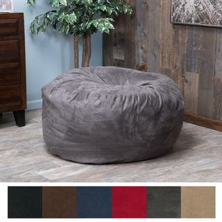 Christopher Knight Home Paige Faux Suede 3-foot Lounge Beanbag Chair|https://ak1.ostkcdn.com/images/products/9249446/P16415179.jpg?impolicy=medium