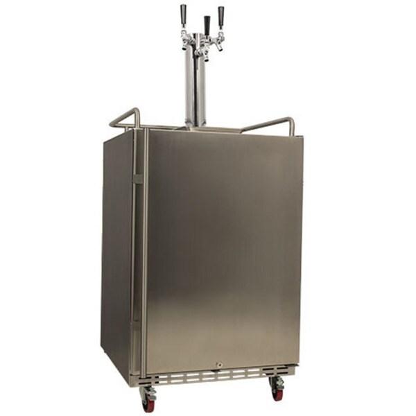 edgestar full size triple tap built in kegerator sold by